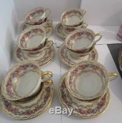 12 ROSENTHAL Old Vienna Cups & Saucers Ivory, Floral, Gold Scrolls