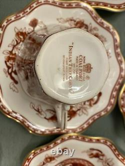12 Vintage Coalport Indian Tree Coral (scalloped) Gold Trim Cup & Saucer Set