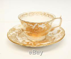 14 Royal Crown Derby Porcelain Cup & Saucers in Gold Aves