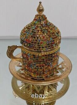 27 Pc Turkish Greek Arabic Coffee Espresso Cup Set High quality USA seller