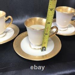 3 Sets of Lenox Westchester Demitasse Cup & Saucer With Green Wreath Backstamp