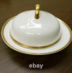 81 piece SET! T&V Limoges France #5886 Dishes Cups Saucers Bowls White Gold Trim