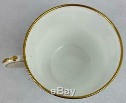 AntiqueMintonTurquoise Cup & SaucerHand Painted EnamelGold Gilt1870