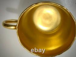 Antique Coalport Demitasse Cup & Saucer, Gold Encrusted