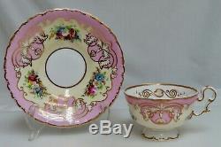 Antique Copeland & Garrett c1840 Pink Gold Cup & Saucer 80590