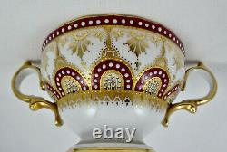 Antique Copelands China Jeweled Soup Cup & Saucer