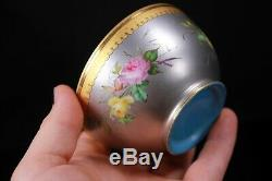 Antique Fine Porcelain Tea Cup and Saucer Platinum and Gold ground 19th Century