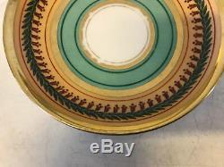 Antique French Old Paris Porcelain Cabinet Cup & Saucer Gold & Floral Decoration