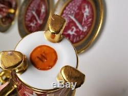 Antique German Decorator Studio Nymphs Gold/Silver Tone 6 Porcelain Cups Saucers