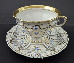 Antique KPM Berlin Tea Cup & Sauce, c. 1840s