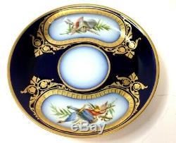 Antique Napoleonic M Imp de Sèvres Gold Trimmed Cup & Saucer Bataille de Wagram