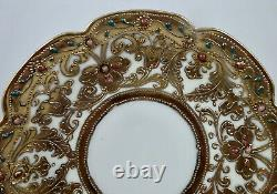 Antique Nippon Chocolate Cup & Saucer, Jeweled