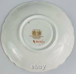 Antique ParagonPink Rose Cup & Saucer G6117/4 English PorcelainGold Gilt c1939