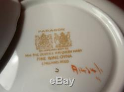 Antique Paragon Gold & Roses Green Tea Cup & Saucer