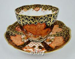 Antique Royal Crown Derby Cup & Saucer Breakfast Size