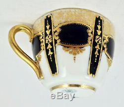 Antique Royal Doulton Demitasse Cup & Saucer Cobalt Blue & Gold