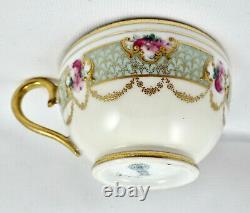 Antique Royal Doulton Tea Cup & Saucer, Gilded