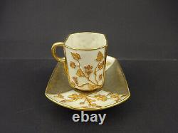 Antique Royal Worcester Demitasse Cup & Saucer, Aesthetic Style