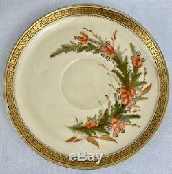 Antique Royal Worcester True Trio1878 Hand paintedPorcelainCup Saucer & Plate