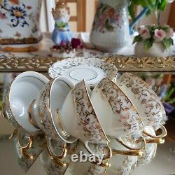 Antique Set for 6 Coffee Set in Bavaria Porcelain Germany