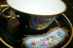 Antique Sevres French Porcelain Cup And Saucer