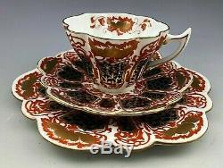 Antique The Folley China England Wileman Shelley Trio Cup, Saucer & Dessert #3