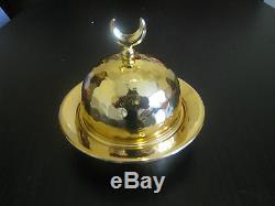Authentic Turkish Tea Serving Set-Glasses, Saucers, Bowl, Tray Ottoman Tugra Motif