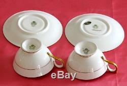 Aynsley Cups Saucers Gold Signed Bailey Assortment of 5 sets