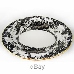 BLACK AVES by Royal Crown Derby Cup & Saucer NEW NEVER USED made England