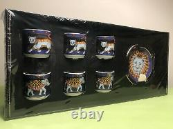 Bopla Lagenthal Magic Gold Circus Swiss Porcelain Cup & Saucer Espresso Set