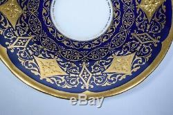 Cauldon Demitasse Cup & Saucer with Raised Gold Decoration Circa 1920