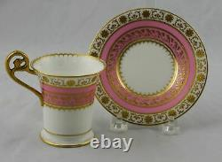 Cauldon Gold Encrusted Cabinet Cup & Saucer Gilman Collamore & Co 5th Ave NYC