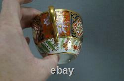 Coalport Imari Style Red Purple Cobalt & Gold Tea Cup & Saucer Circa 1800-1815