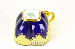 Coalport Jeweled Gold Demitasse Coffee Cup & Saucer 8642