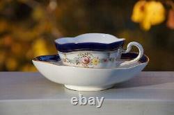 Custom Pocket Listing 3 Meissen Demitasse Quatrefoil Cup & Saucer Sets