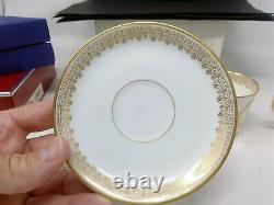 Dore Sevres Porcelain Napoleon Cup and Saucer Set Plus Extra Cup