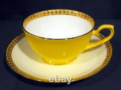 Elegant Teavana Noble Poppy Tea Set Teapot 4 Cup + Saucers 14k Gold Never Used