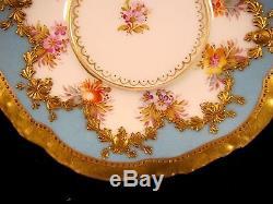 Exquisite Antique Donath Co Dresden Baroque Cabinet Demitasse Cup & Saucer Gold