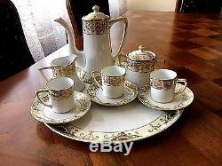 Exquisite Noritake Tea Set Pot, Cream & Covered Sugar, 3 Cups withsaucer