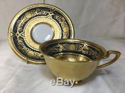 Exquisite ROYAL WORCESTER Gold Encrusted, Gold Covered, Beaded, CUP & SAUCER Set