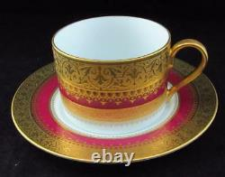 Faberge IMPERIAL HERITAGE Burgundy, Gold Encrusted, Cup & Saucer Set (BS2)