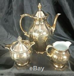 French Coffee Tea Set Porcelain Cup Saucer Fragonard Gold Dinnerware Bavaria