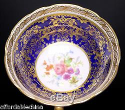 Gorgeous Paragon Cobalt and Gold Floral Centered Cup and Saucer B
