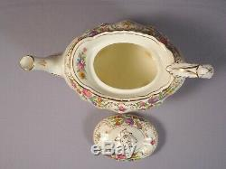 HAMMERSLEY DRESDEN SPRAYS Coffee Tea set Pot Sugar Bowl Cup Saucers Bone China