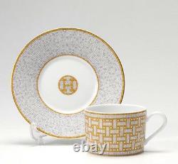 HERMES Porcelain Cup Saucer Mosaique Tableware Dish Plate Ornament 1026016P New