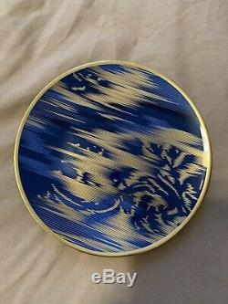 Hermes Voyage en Ikat Porcelain Butter Plate Tableware Ornament Auth Rare