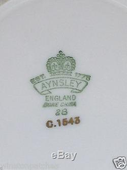 John Aynsley 1543 J A Bailey Footed Cup & Saucer Pink Gold Scrolls & Trim