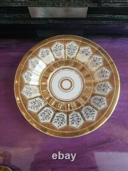 KPM Porcelain Tea cup Heavy Gold Gilt, Cup & Saucer Germany