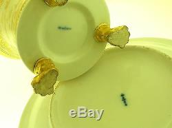 Kpm 1831 Cup & Saucer Special Order Very Rare Gilded With 24k Gold B/o