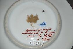 Le Tallec Paris Tiffany Dentelle Cup Saucer Mid Century Signed Porcelain Gold